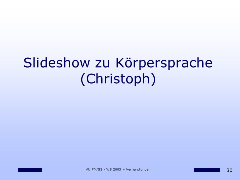 Slideshow zu Körpersprache (Christoph)