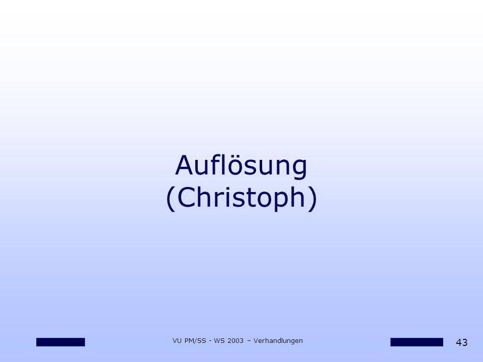 Auflösung (Christoph)