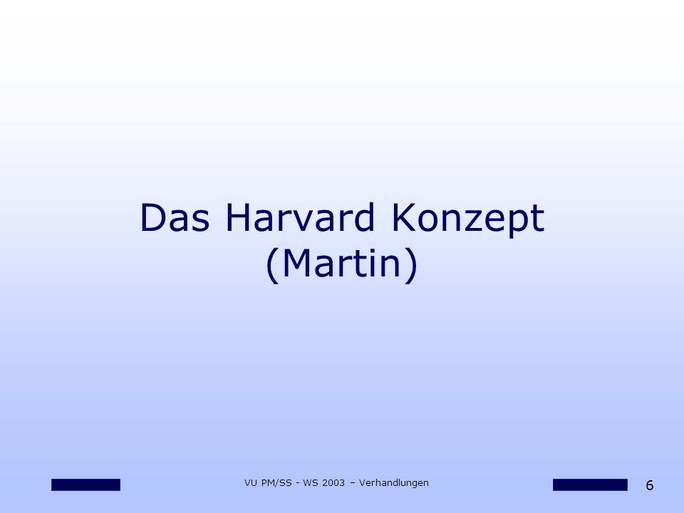 Das Harvard Konzept (Martin)