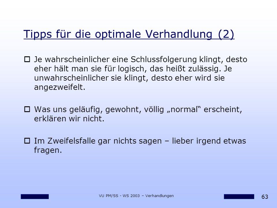 Tipps für die optimale Verhandlung (2)