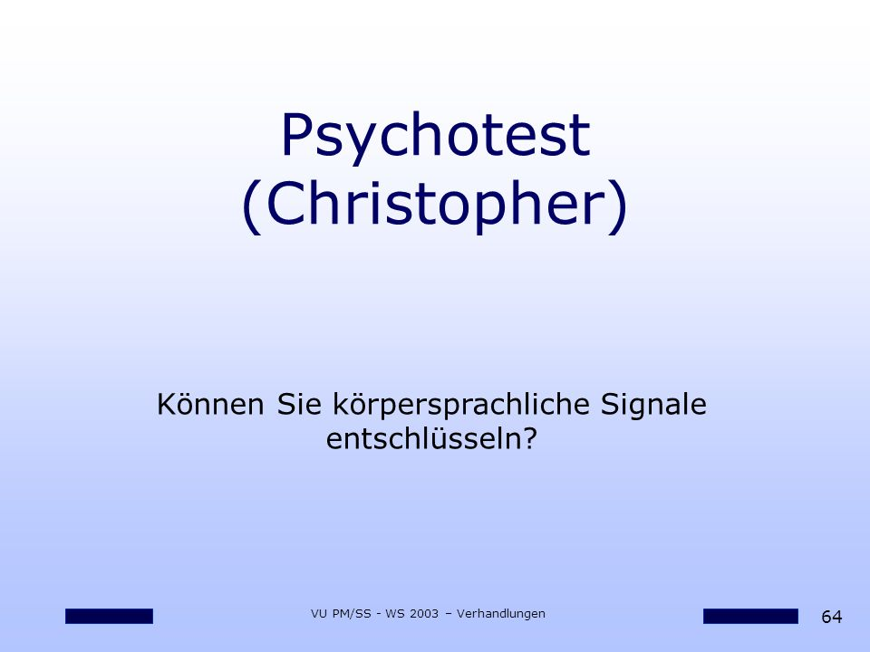 Psychotest (Christopher)