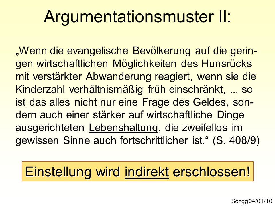 Argumentationsmuster II: