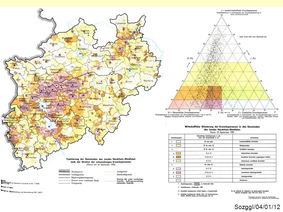 Die räumliche Verteilung der Gemeindetypen