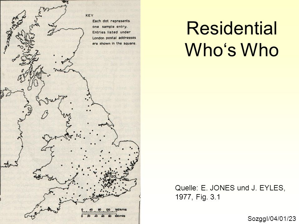 Residential Who's Who Quelle: E. JONES und J. EYLES, 1977, Fig. 3.1