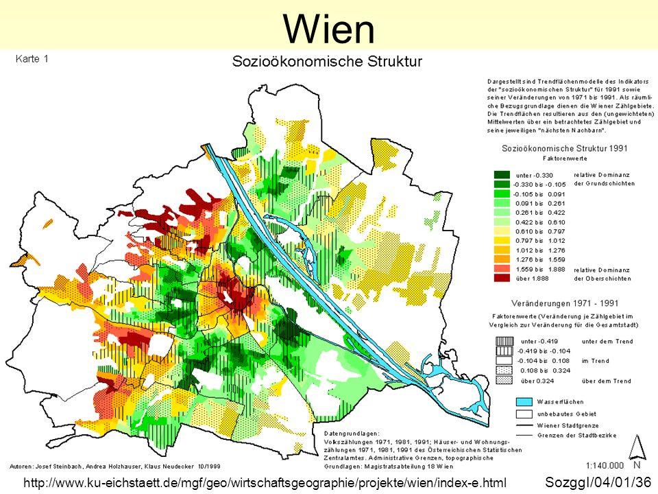 Wien sozioökonomische Struktur