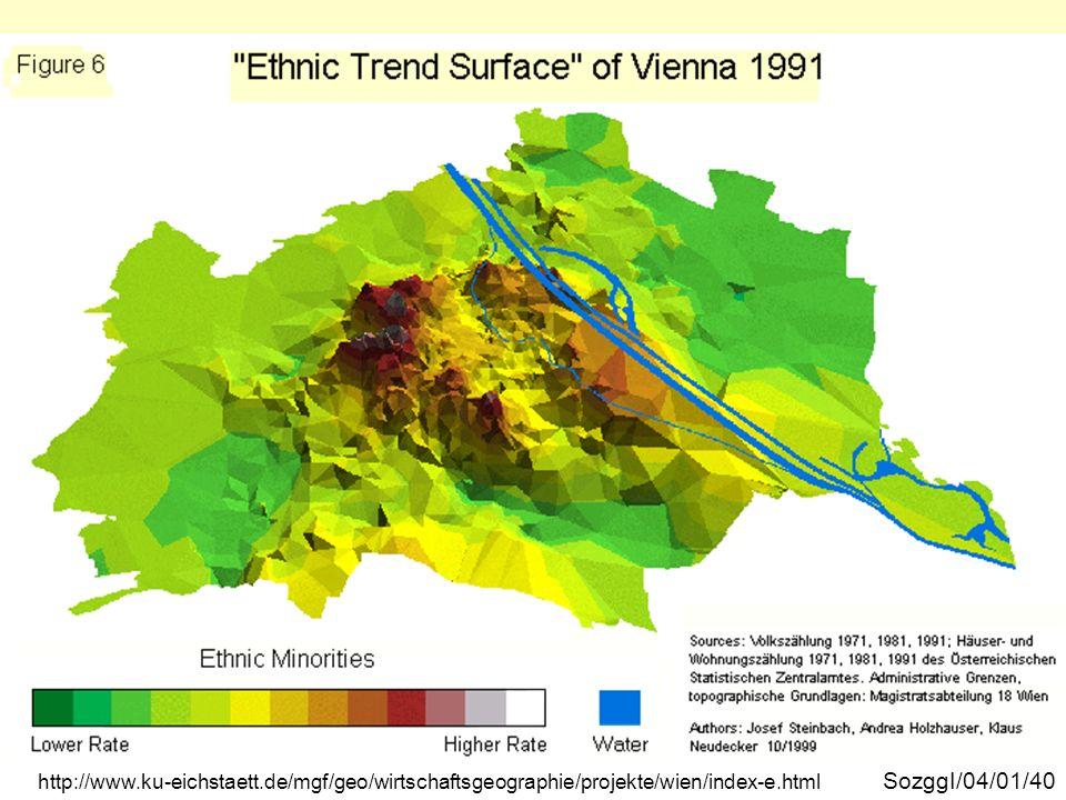 Wien ethnische Trendoberfläche 1991