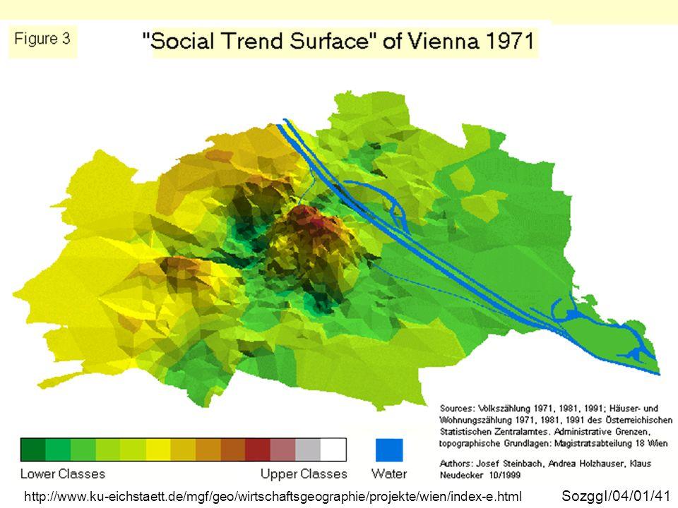 Wien soziale Trendoberfläche 1971