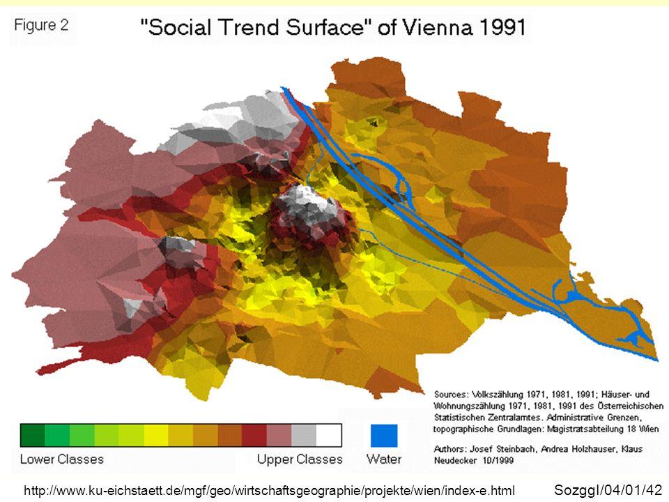 Wien soziale Trendoberfläche 1991