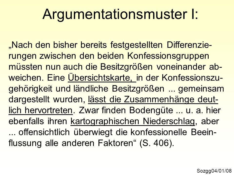 Argumentationsmuster I:
