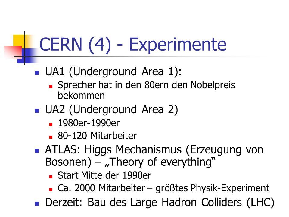 CERN (4) - Experimente UA1 (Underground Area 1):