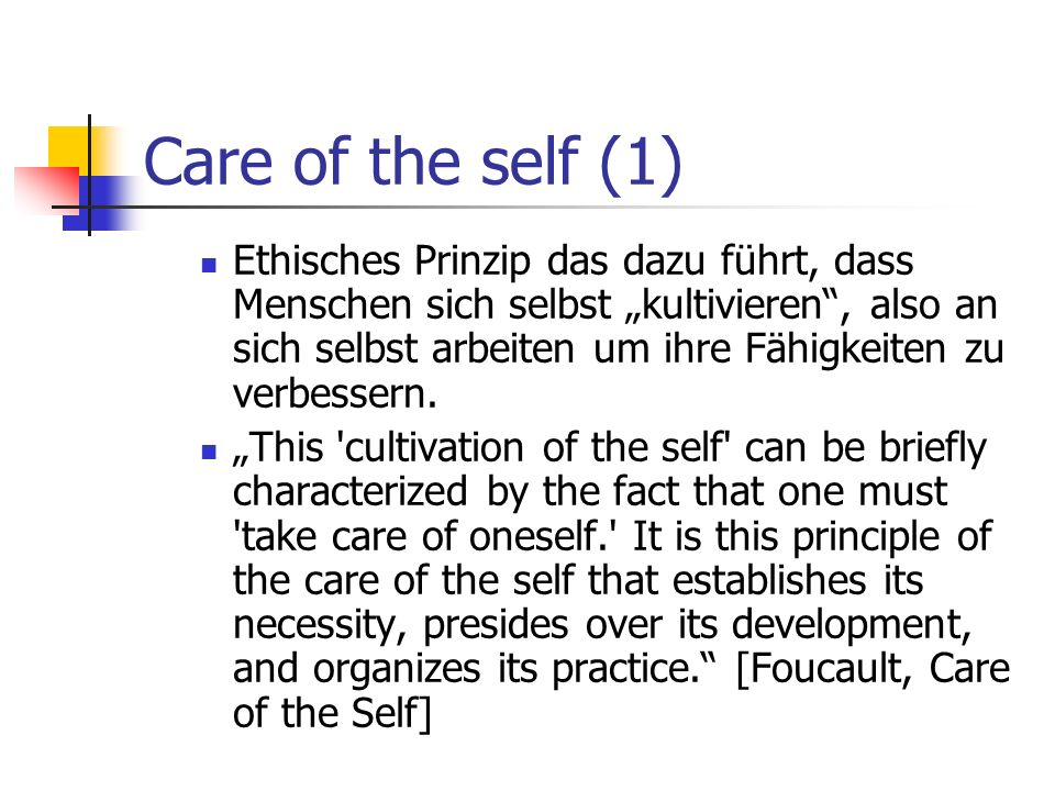 Care of the self (1)