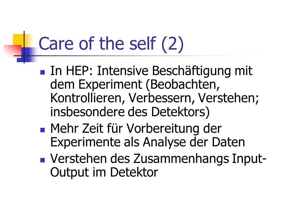Care of the self (2)