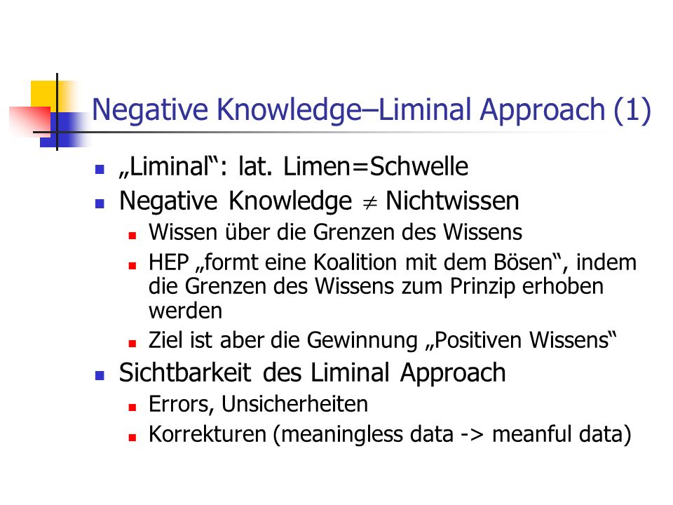 Negative Knowledge–Liminal Approach (1)