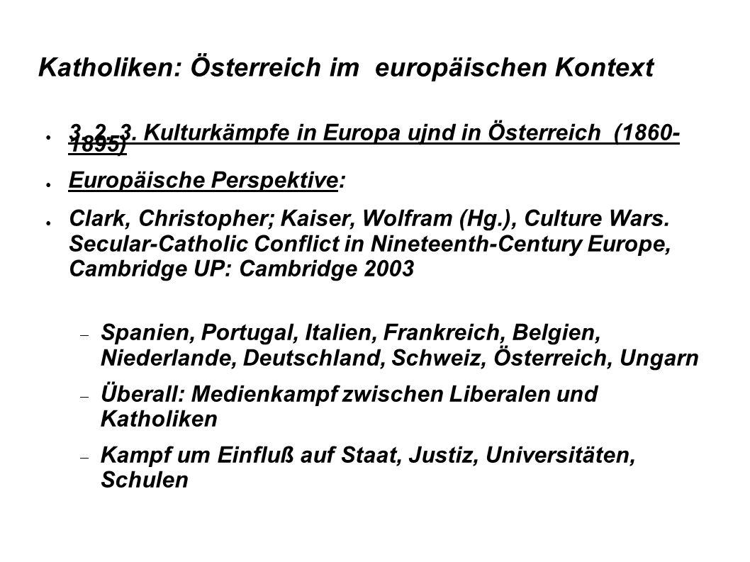 Katholiken: Österreich im europäischen Kontext