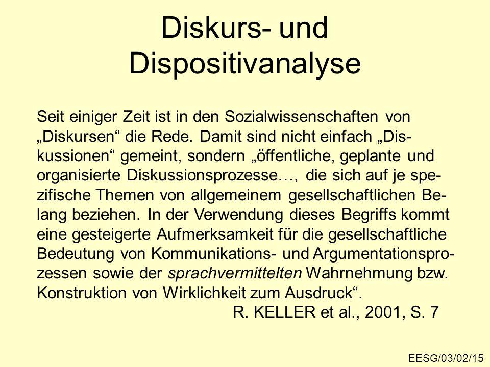 Diskurs- und Dispositivanalyse
