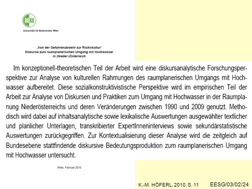 K.-M. HÖFERL, 2010, S. 11 EESG/03/02/24