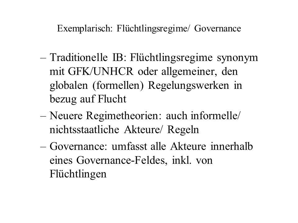 Exemplarisch: Flüchtlingsregime/ Governance