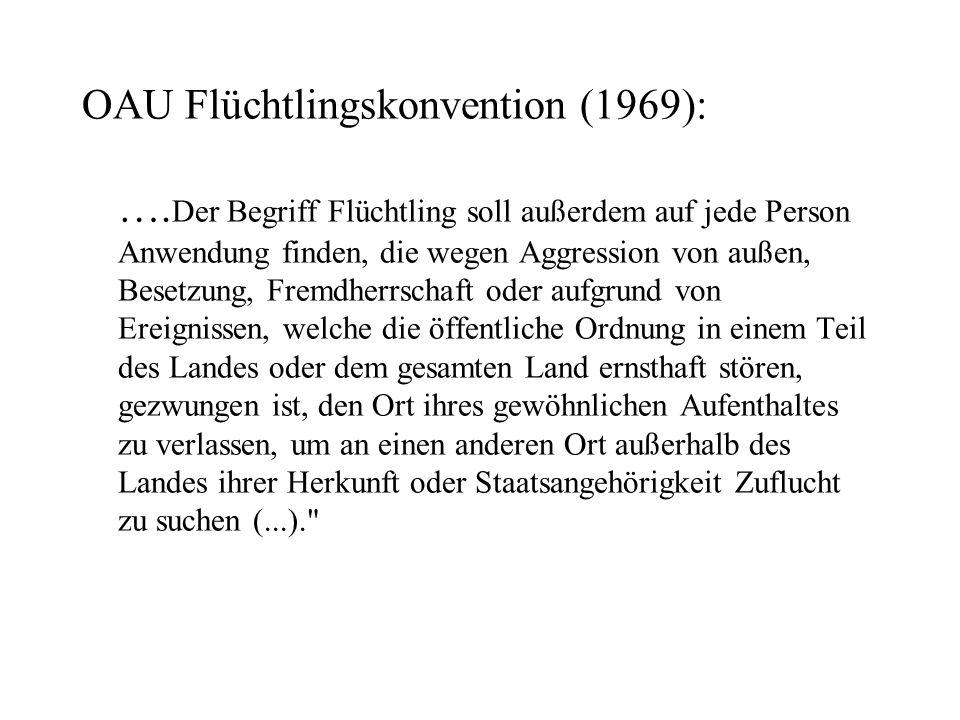 OAU Flüchtlingskonvention (1969):