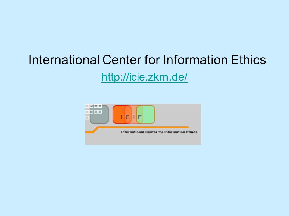 International Center for Information Ethics