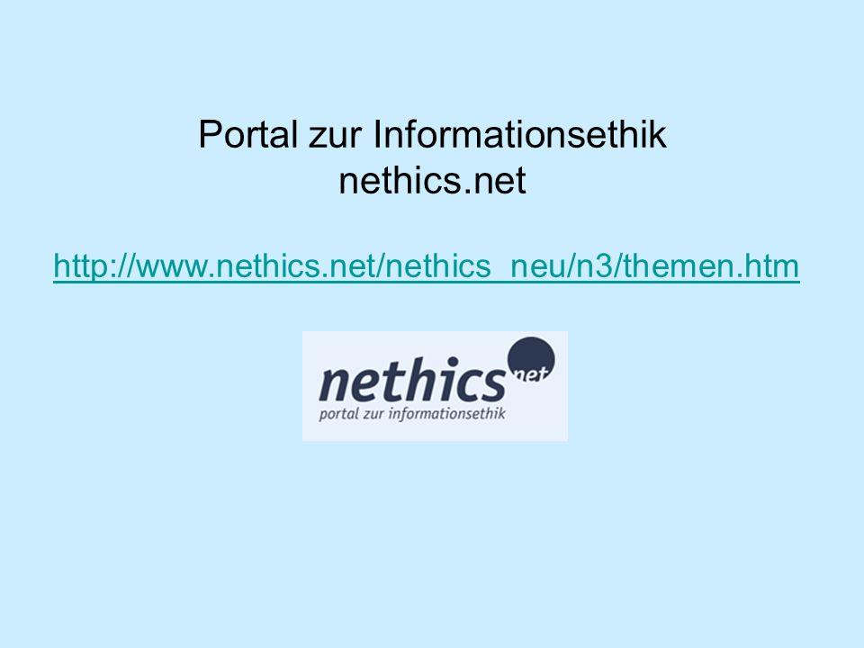Portal zur Informationsethik nethics.net