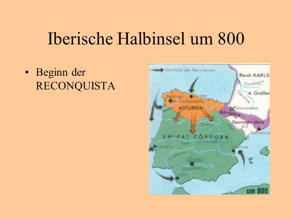Iberische Halbinsel um 800
