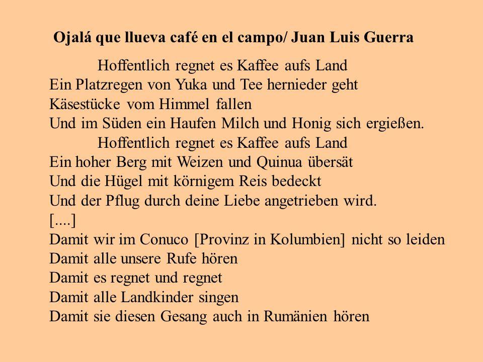 Ojalá que llueva café en el campo/ Juan Luis Guerra