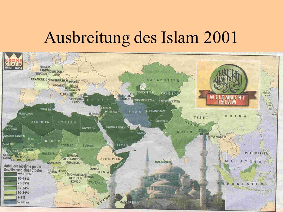 Ausbreitung des Islam 2001