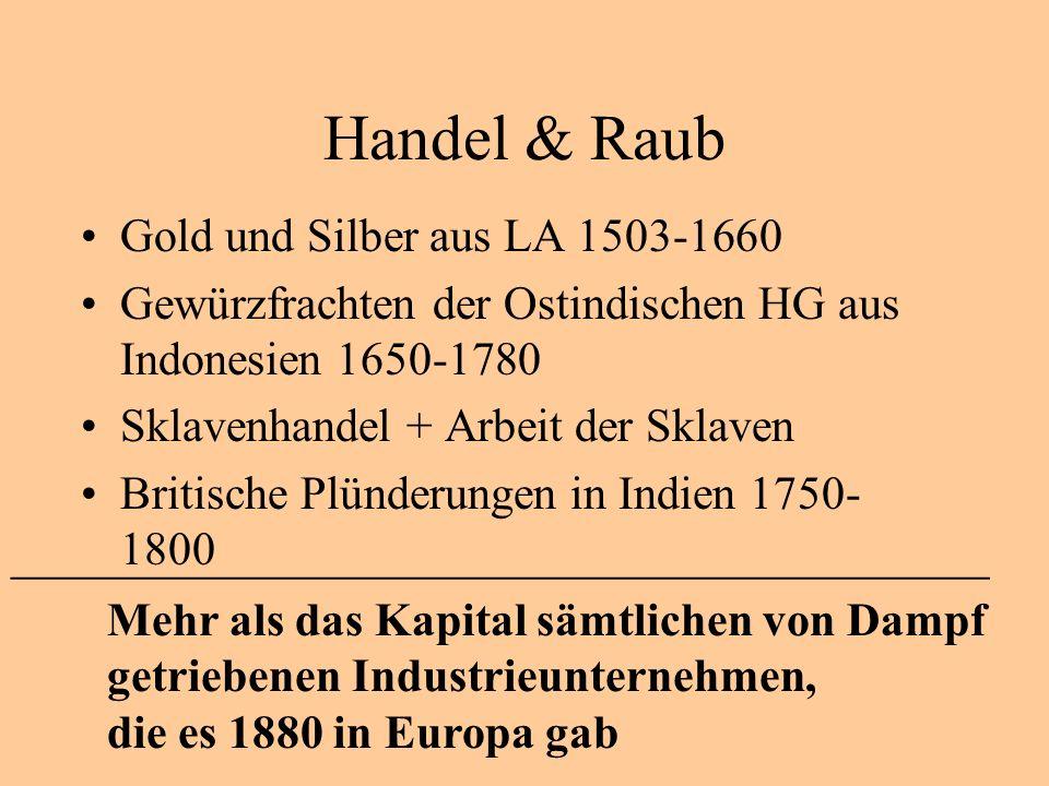 Handel & Raub Gold und Silber aus LA 1503-1660