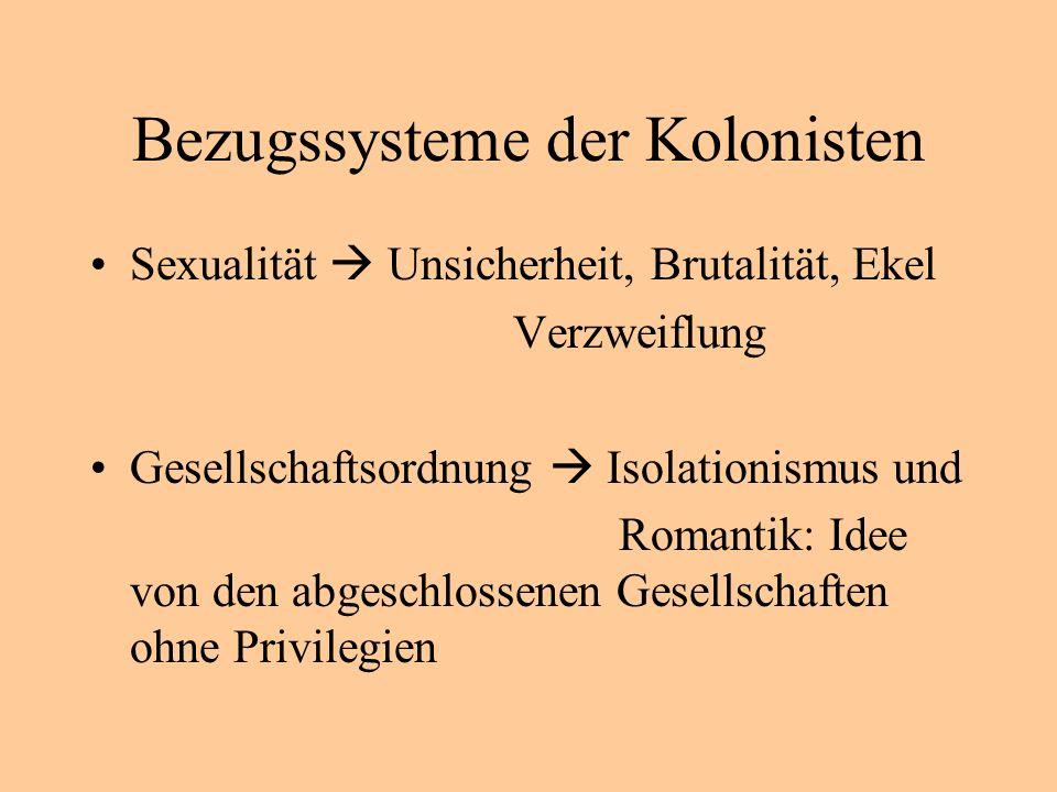 Bezugssysteme der Kolonisten
