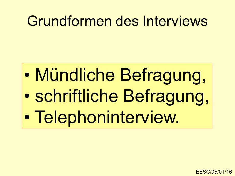 Grundformen des Interviews