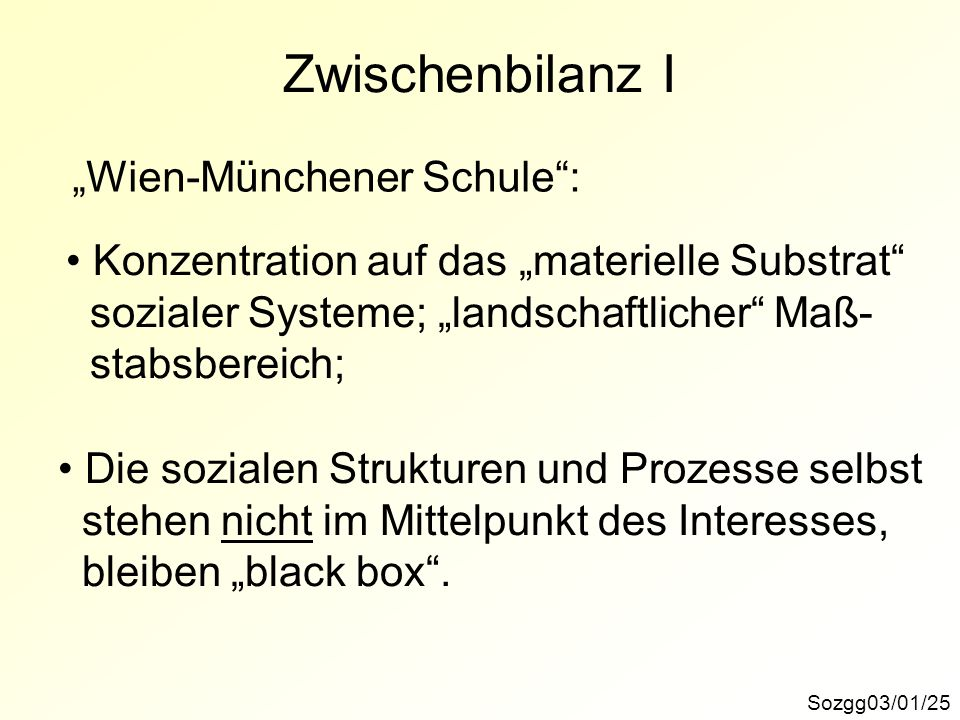 """Zwischenbilanz I """"Wien-Münchener Schule :"""