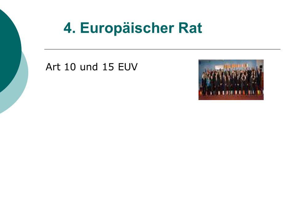 4. Europäischer Rat Art 10 und 15 EUV 16