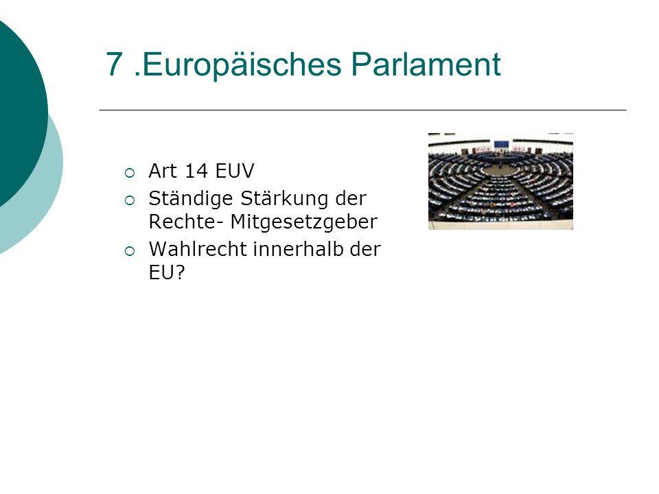 7 .Europäisches Parlament