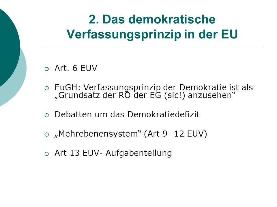 2. Das demokratische Verfassungsprinzip in der EU