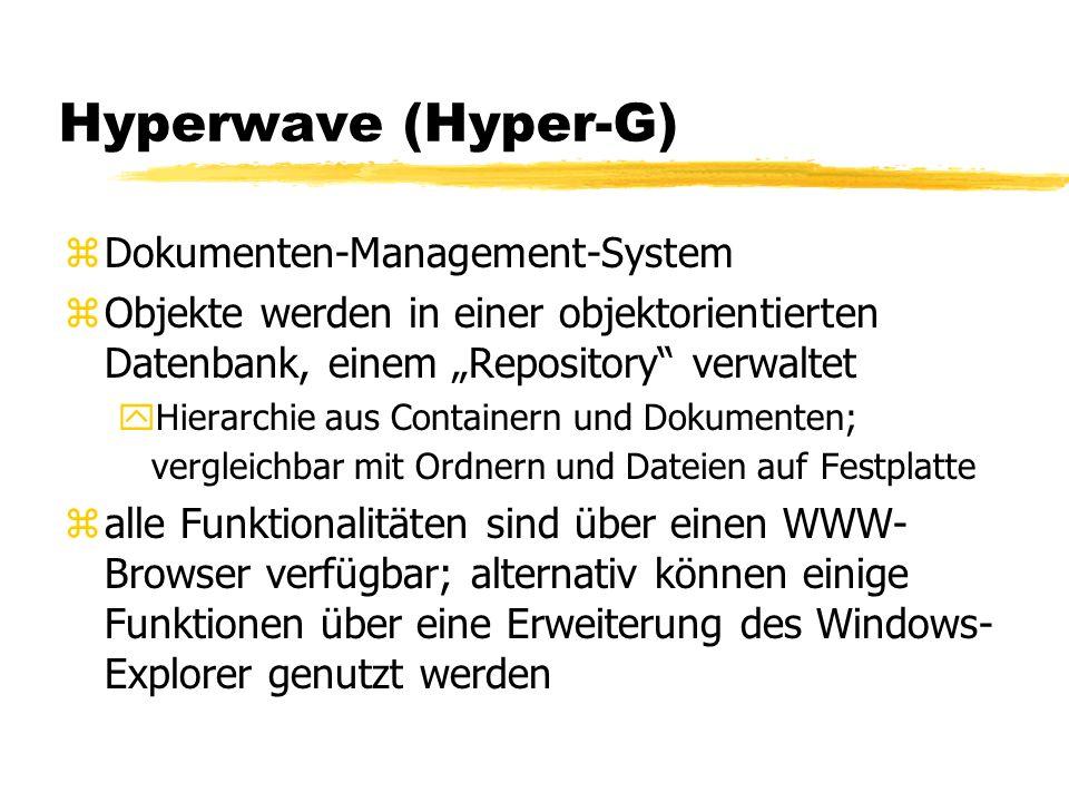 Hyperwave (Hyper-G) Dokumenten-Management-System