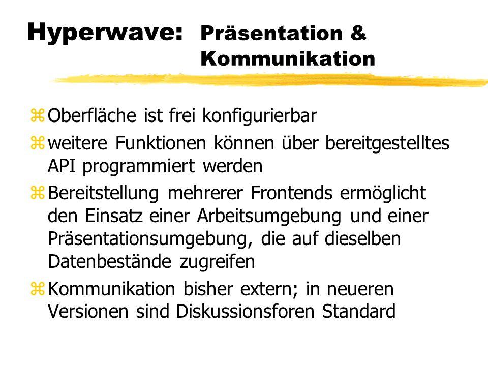 Hyperwave: Präsentation & Kommunikation