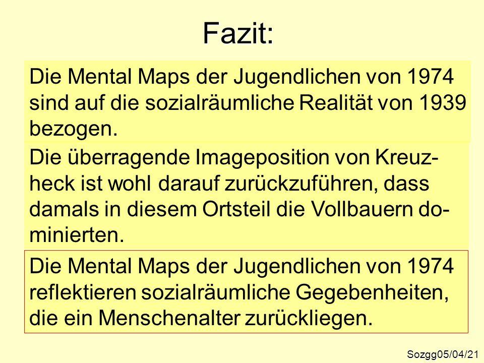 Fazit: Die Mental Maps der Jugendlichen von 1974