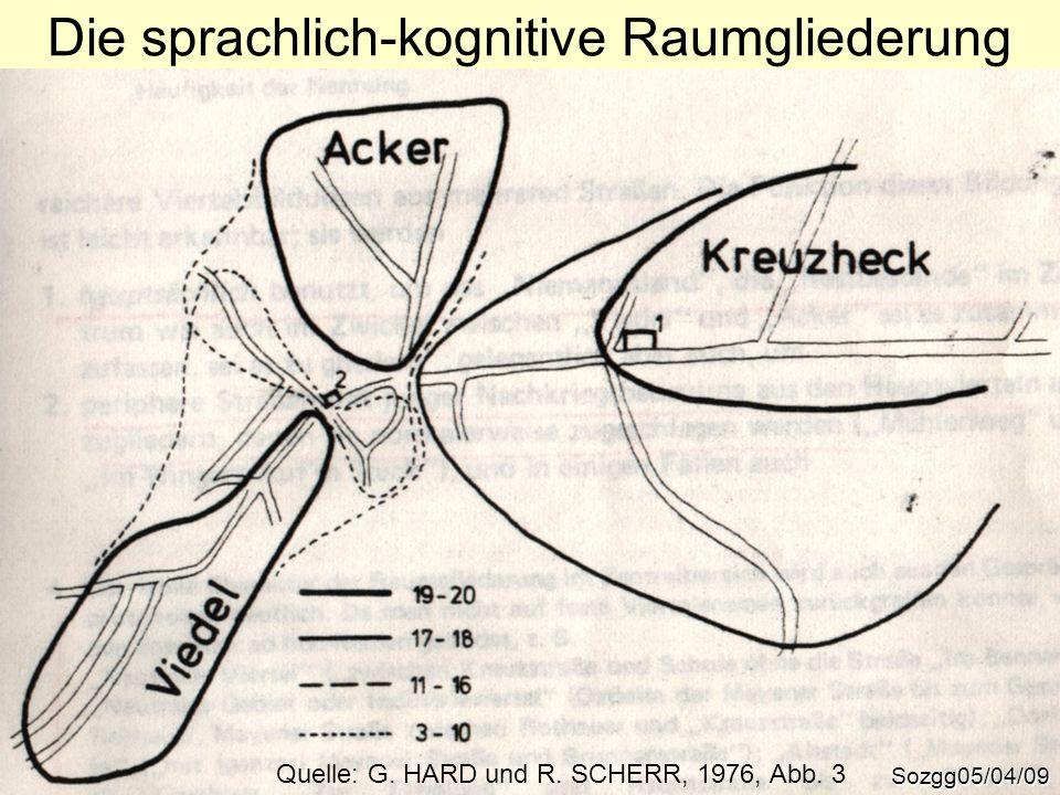 Die sprachlich-kognitive Raumgliederung