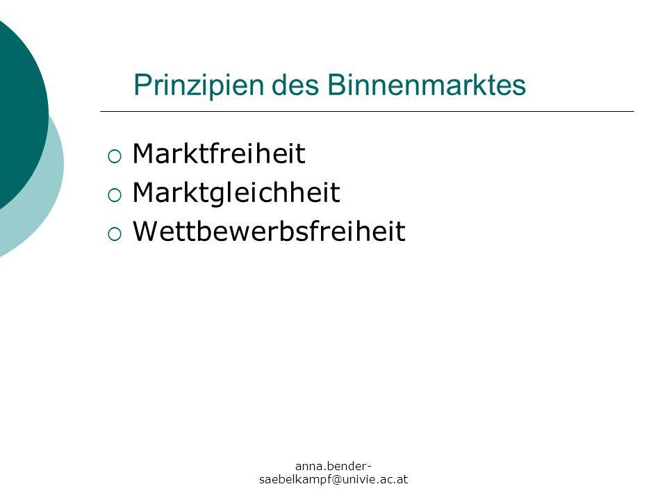 Prinzipien des Binnenmarktes