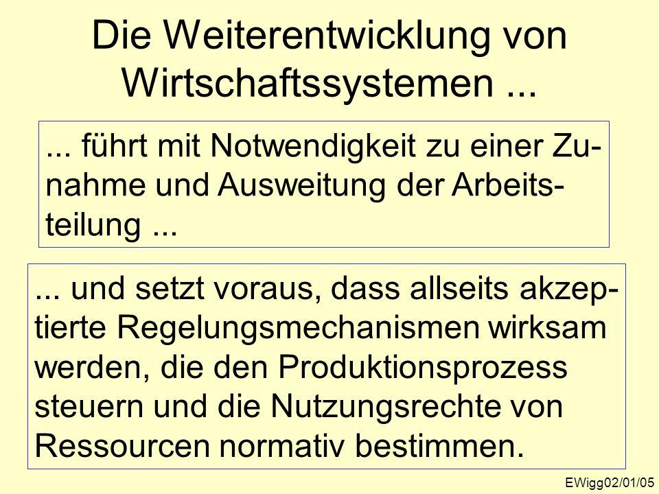 Die Weiterentwicklung von Wirtschaftssystemen ...