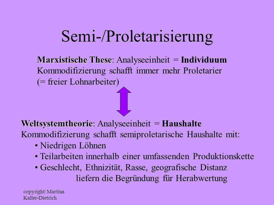 Semi-/Proletarisierung