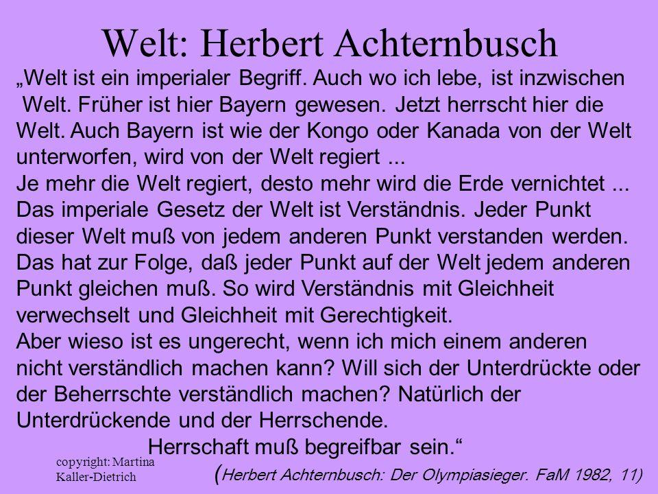 Welt: Herbert Achternbusch