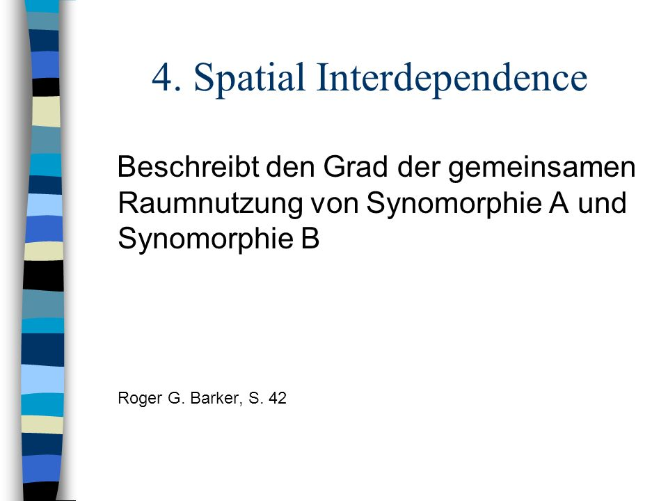 4. Spatial Interdependence