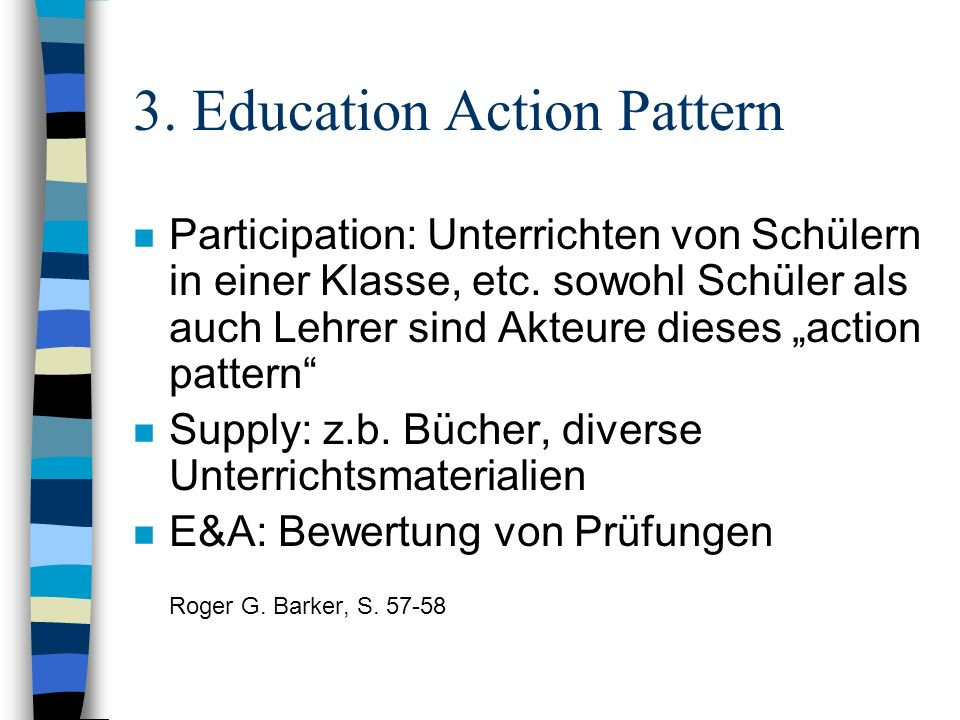 3. Education Action Pattern