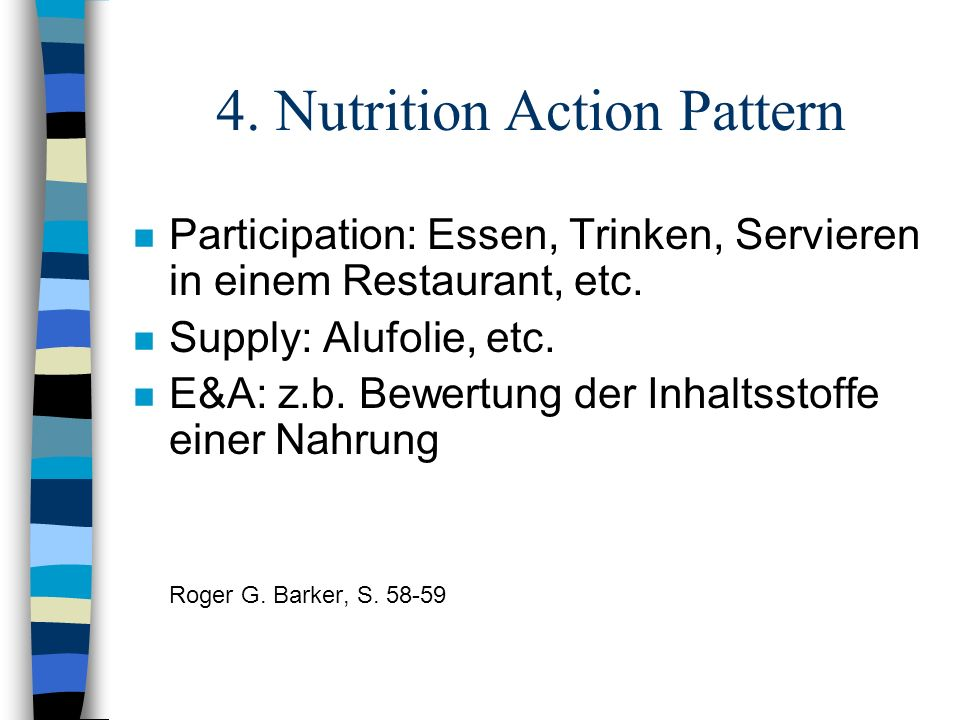 4. Nutrition Action Pattern