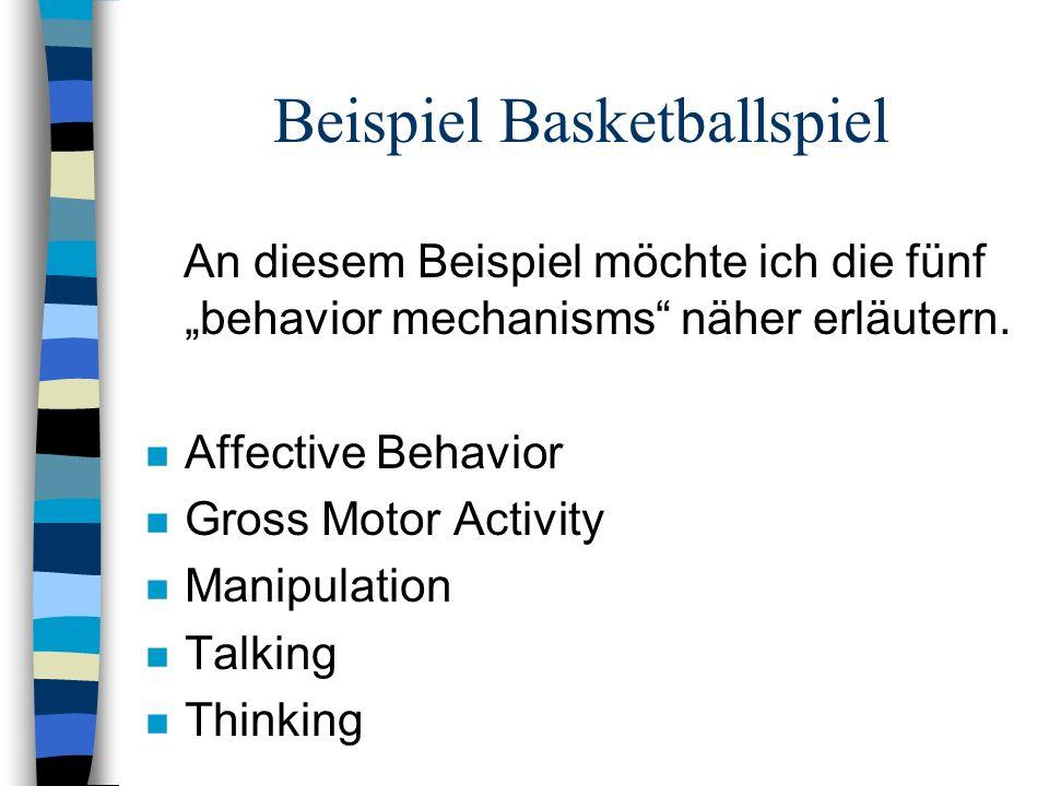 Beispiel Basketballspiel
