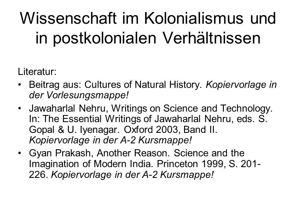 Wissenschaft im Kolonialismus und in postkolonialen Verhältnissen