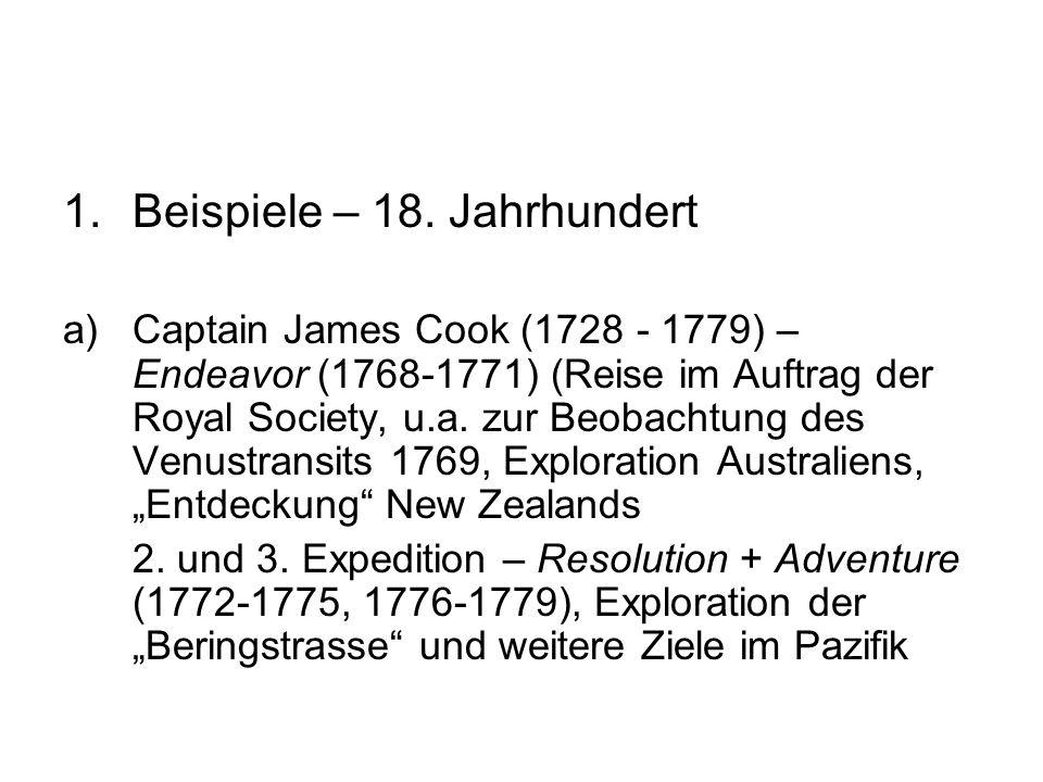 Beispiele – 18. Jahrhundert