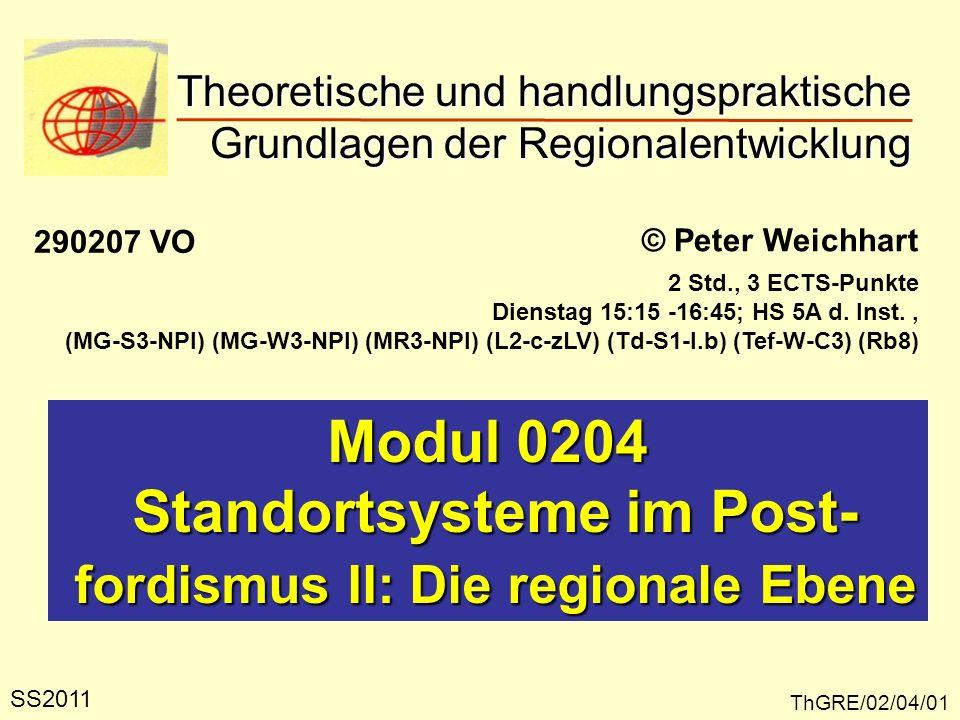Standortsysteme im Post- fordismus II: Die regionale Ebene