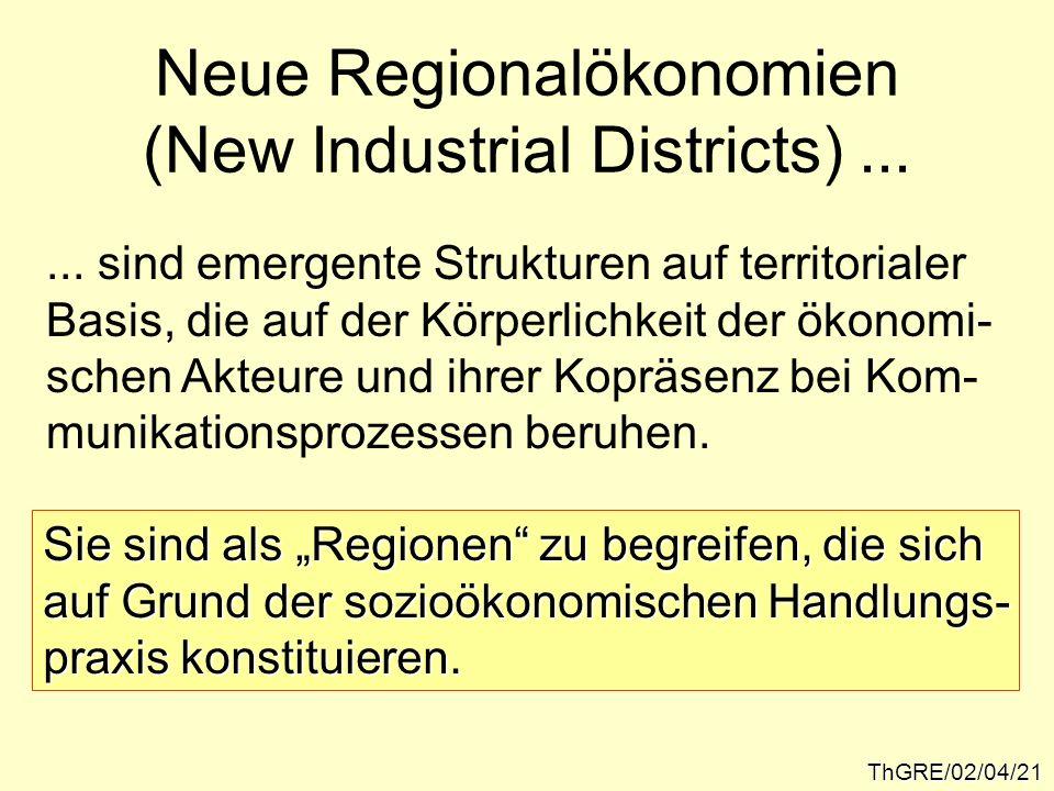 Neue Regionalökonomien (New Industrial Districts) ...